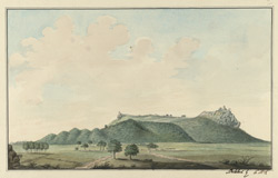 S. view of Bellamkonda Fort. September 1788